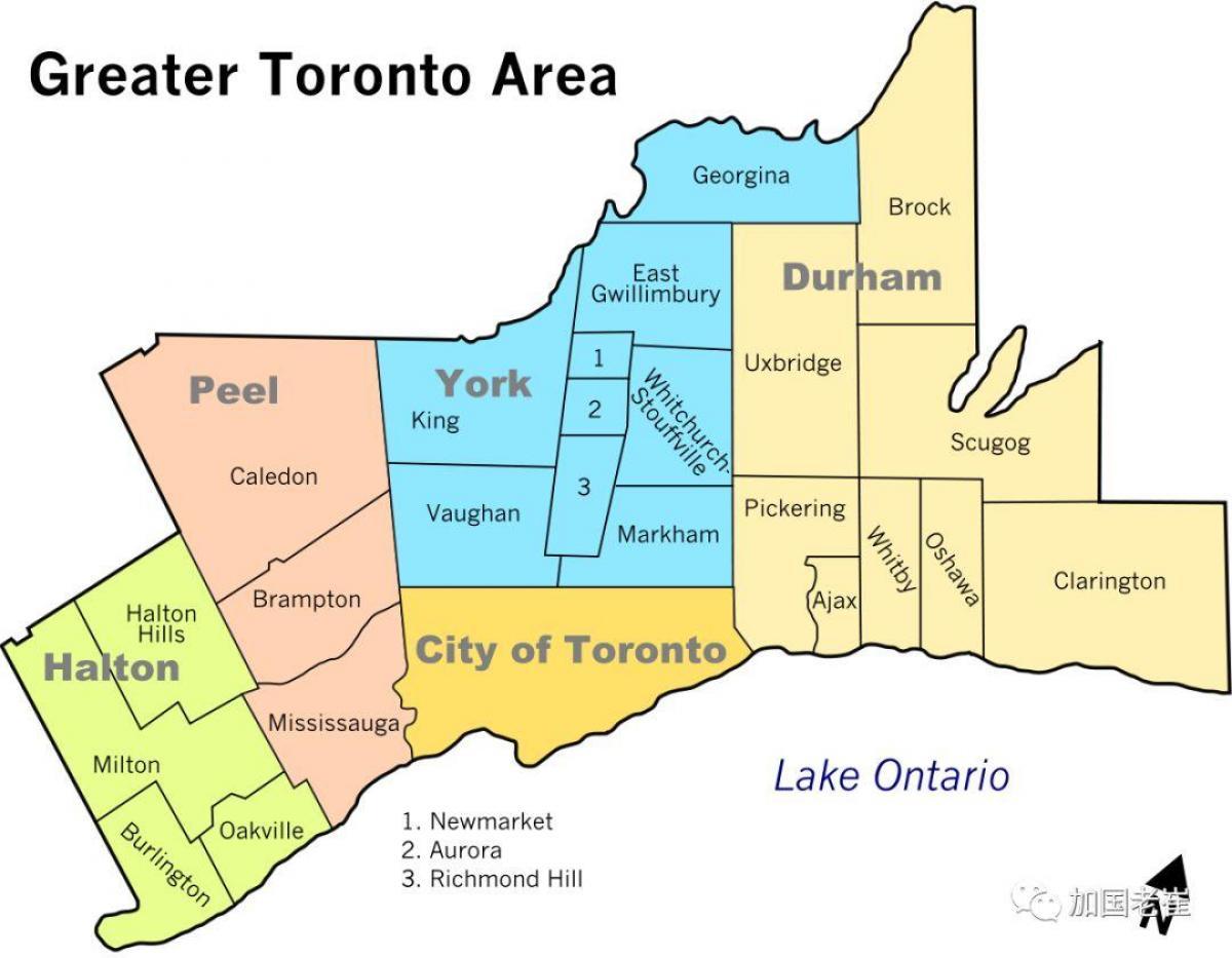 Gta Kartta Toronto Torontossa Gta Kartta Kanada